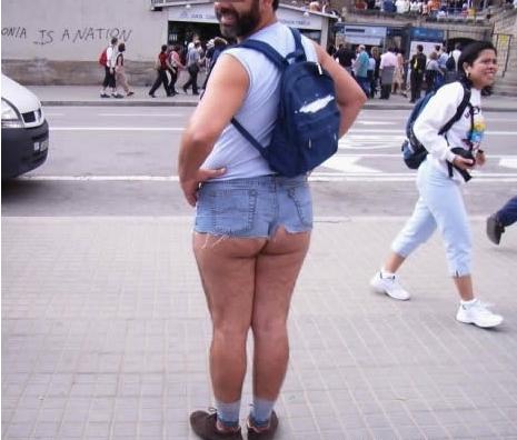 The Half Ass Jean Shorts | uglywardrobe